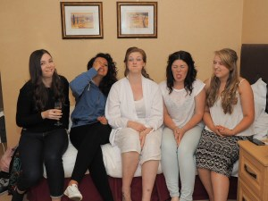 Fun with the bride and bridesmaids