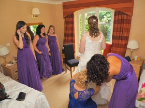 Final preparations before the wedding ceremony