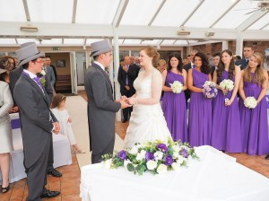The ceremony in the conservatory - beautiful natural lighting