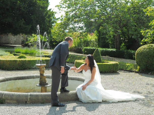In the stunning gardens at Ruthin Castle Hotel