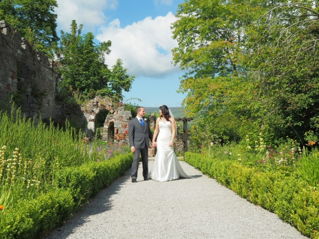 Lovely sky detail in this shot at Ruthin Castle wedding