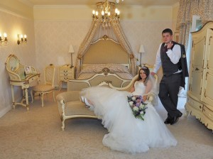 Relaxed shot in the Bridal Suite at The Lion Quays