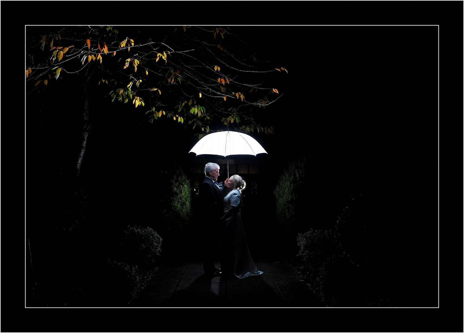 stunning night shots for wedding at rossett hall