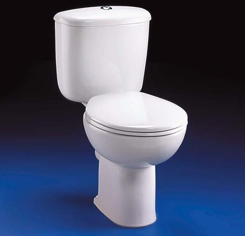 Close Coupled Toilet Push Cistern Fittings Amp Seat Ideal