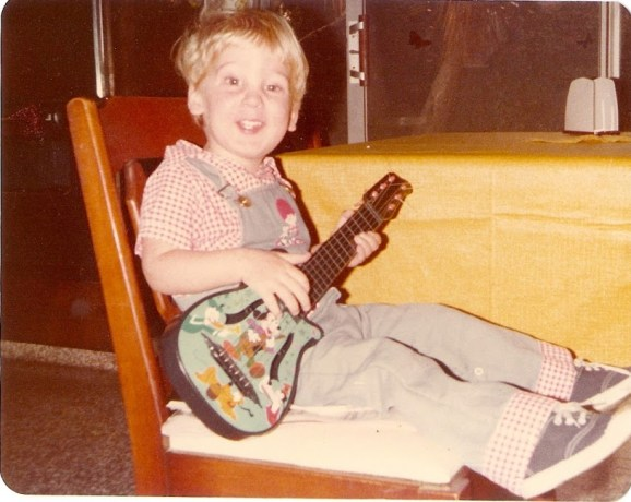 Ted Curran, age 3, with guitar