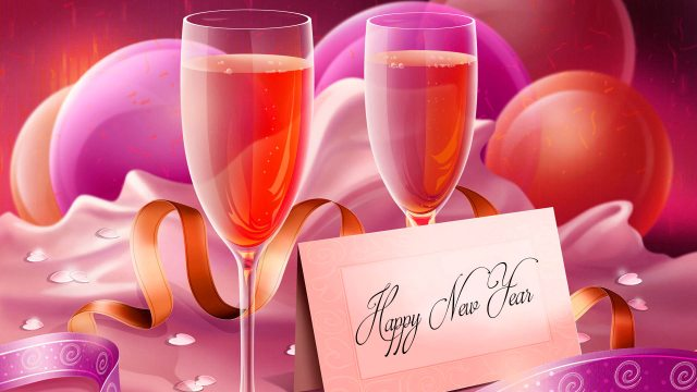 Happy New Year Wallpapers With Wine Glasses - Happy New Year 2020 Wallpaper, HD Greetings