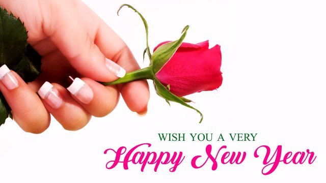 Happy New Year Wishes Wallpaper with Rose - Happy New Year 2020 Wallpaper, HD Greetings