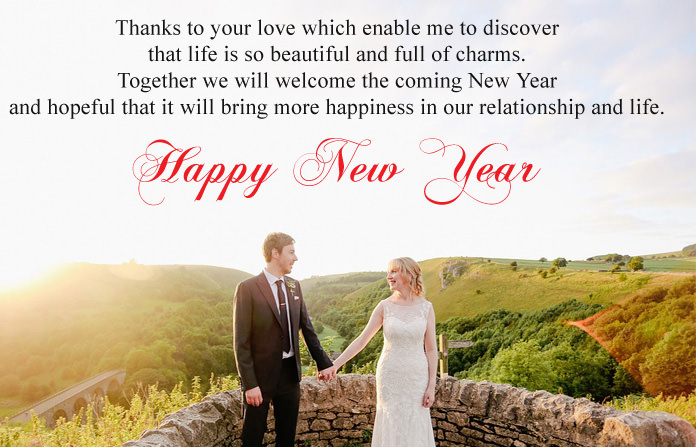 Cute Happy New Year Wishes for Lover  Romantic 2018 Love Images Romantic New Year Love Messages
