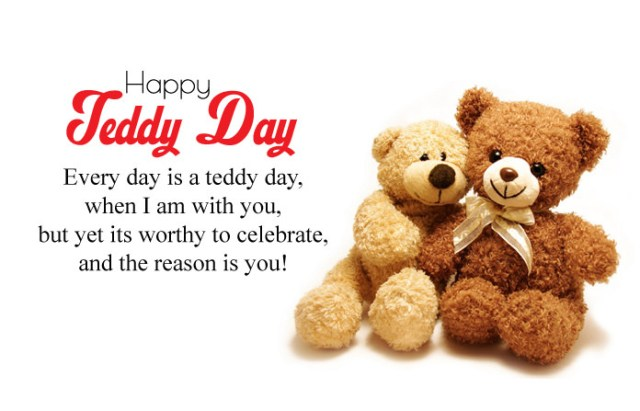Teddy Day Images with Quotes - Cute Happy Teddy Day Images for Whatsapp