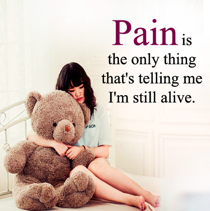 Whatsapp DP about Pain with Status
