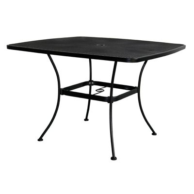 uptown patio dining table steel mesh 42 in sq