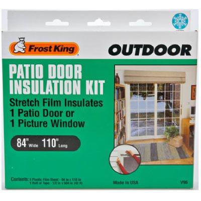 outdoor patio door insulation kit 84 x 110 in
