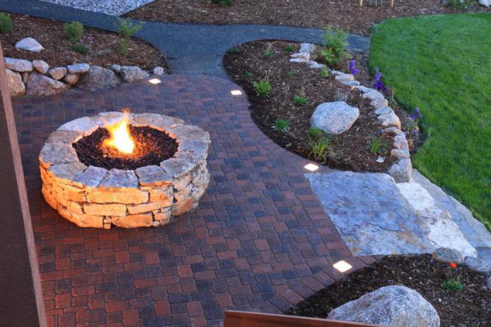 How To Install A Paver Patio With Solar Lights Diy True Value Projects True Value