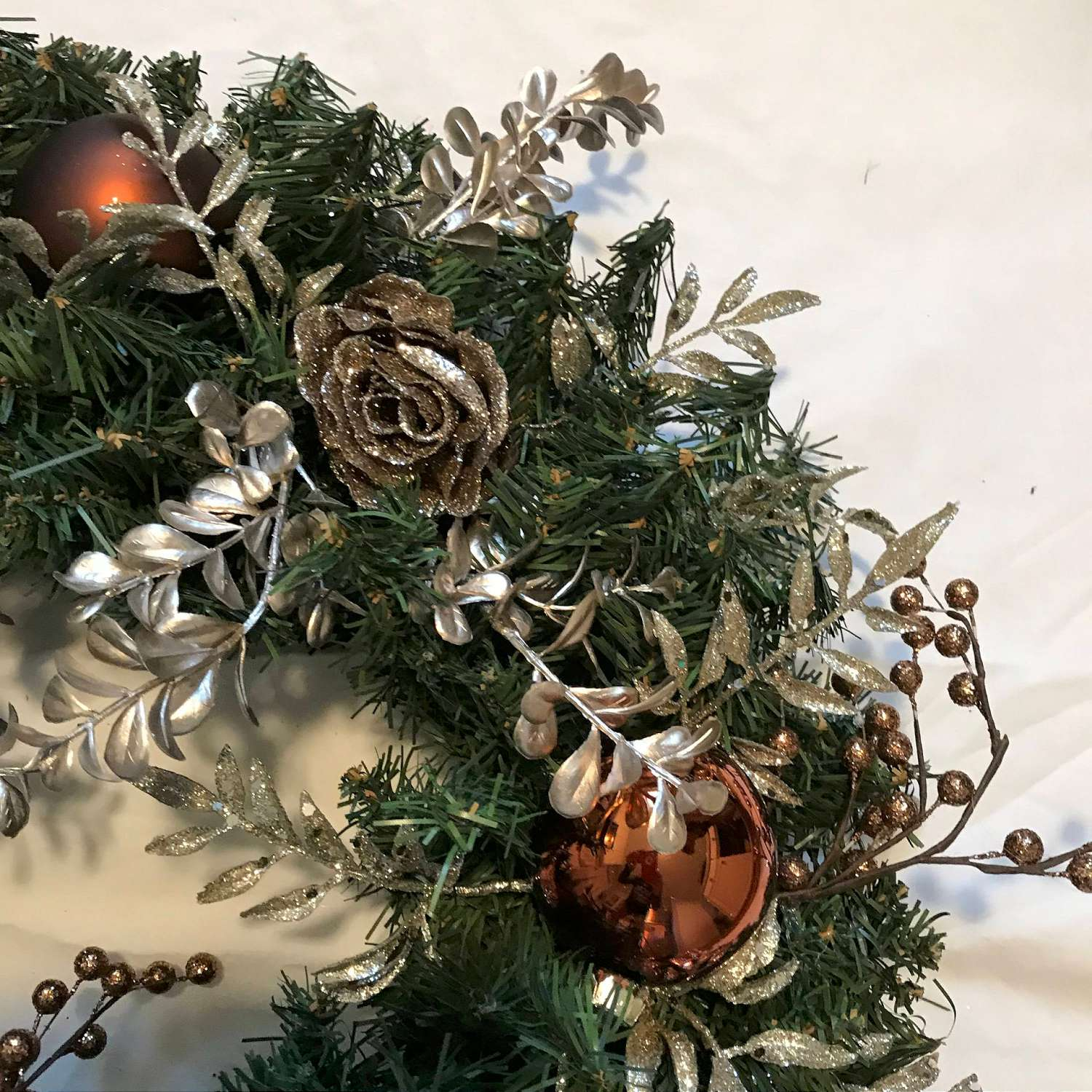 Christmas Wreath Beautiful Hand made Copper and Taupe with ...