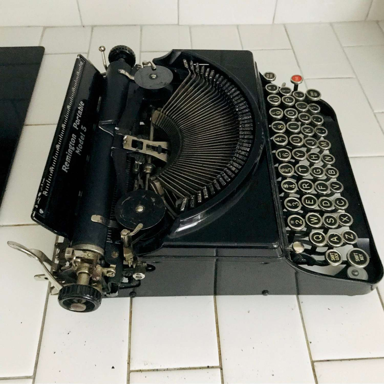 Remington No.5 Typewriter 1920's light weight manual ...