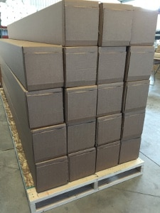 TruLog Steel Siding on Pallet Ready to Ship