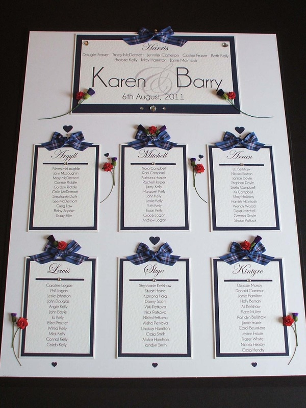 Scottish Wedding Invitations Rangers Tartan Truly Madly