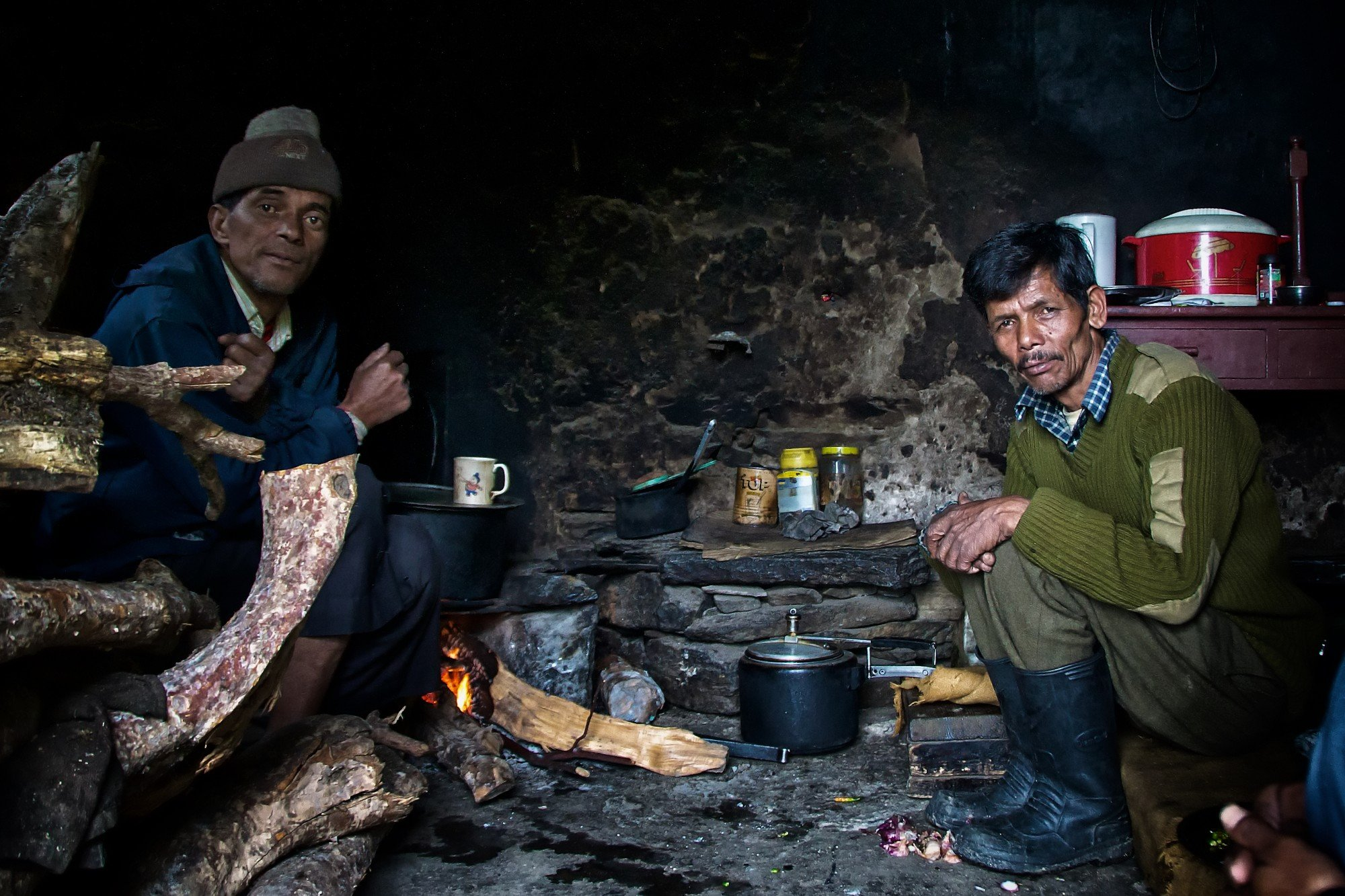 Our cooks at Phurkiya, as we climbed towards the glacier.