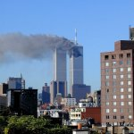 The view from my roof in NYC on 9/11/01
