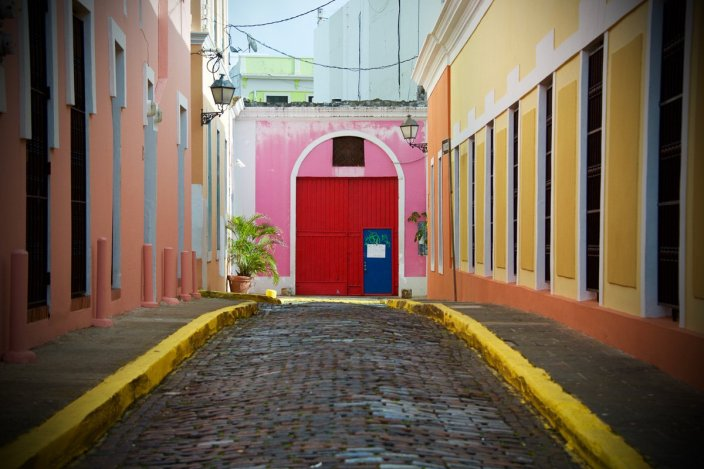The colorful doors of old San Juan, Puerto Rico