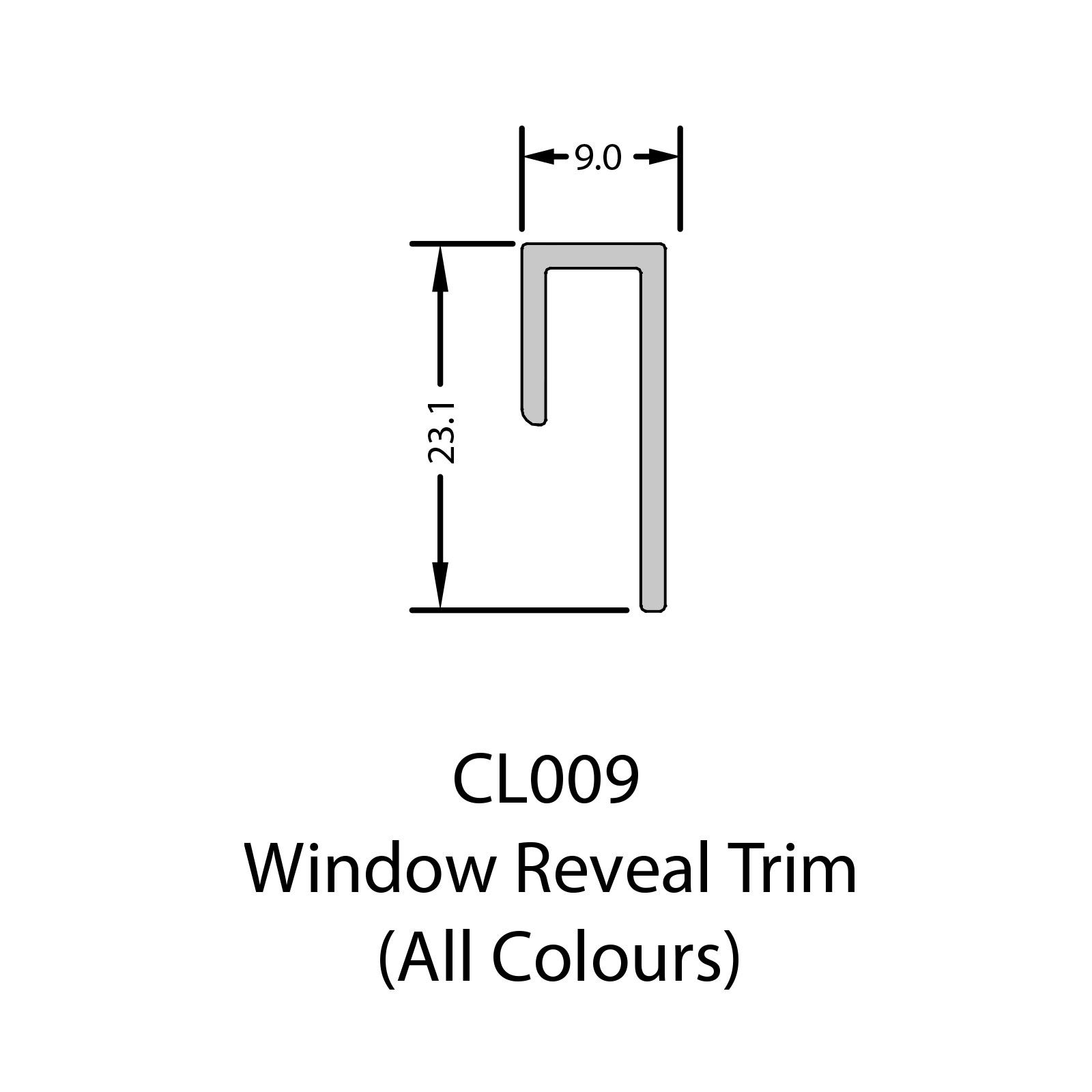 5m Window Reveal Trim For Coastline Shiplap Cladding