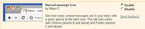 Aktivera Gmail-ikonen för olästa mejl