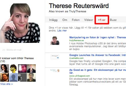 Plus i kanten till Google för Google+