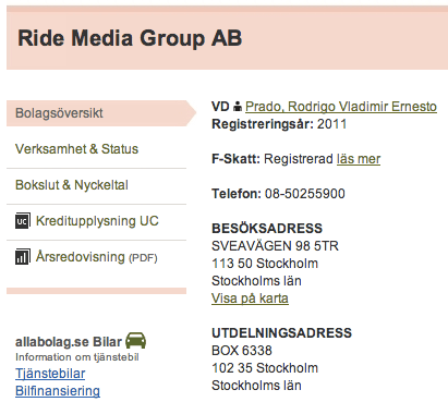 Lurendrejarna bakom Ride Media Group startar nya bolag