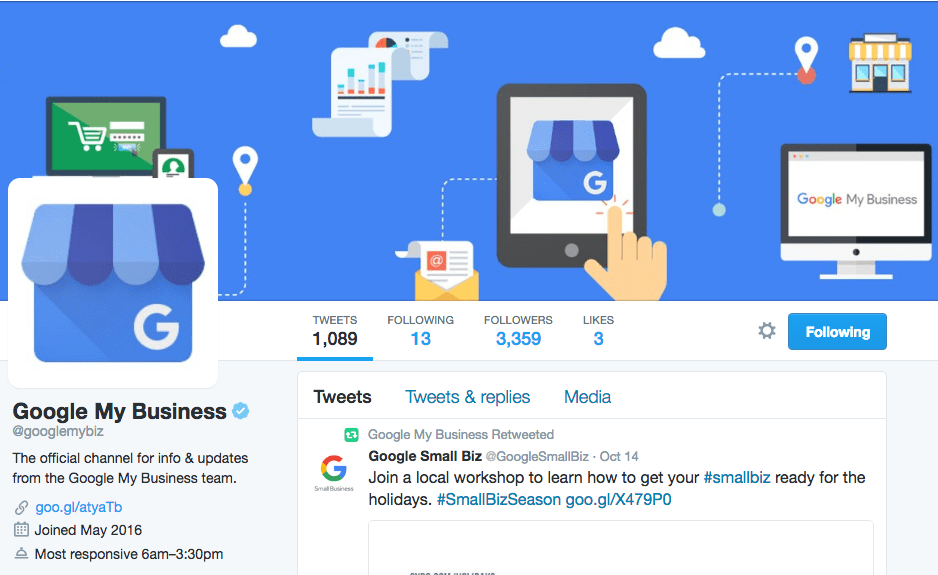 Google My Business Support on Twitter