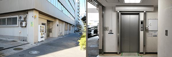 エレベーターの使える店舗 港芝浦店