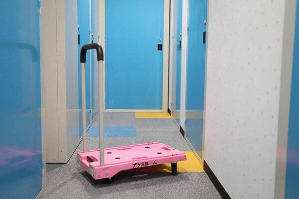 トランクルームには台車を用意しております