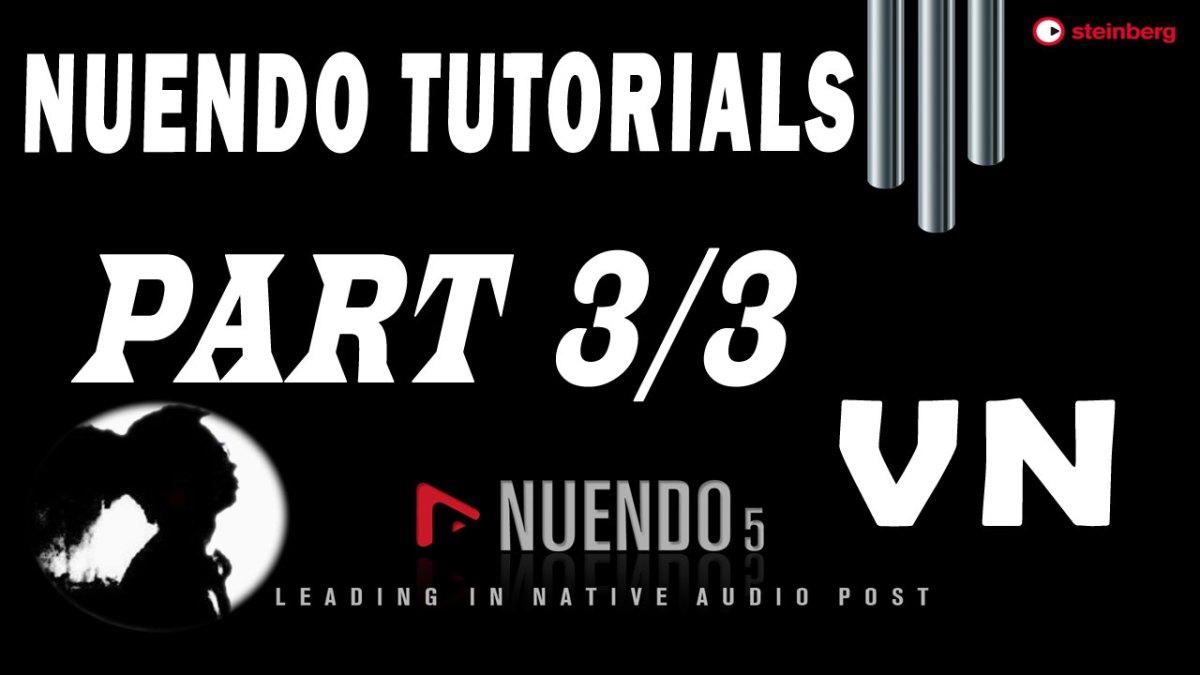 #3 Nuendo Tutorials – Mix nhạc + Mastering với Nuendo 5