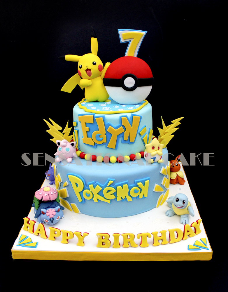 Pikachu Birthday Cake