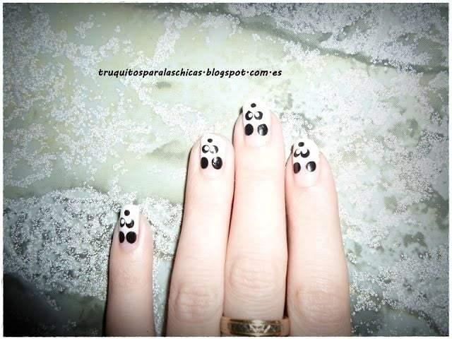 manicura oso panda
