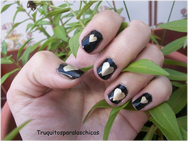 Manicura facil corazon