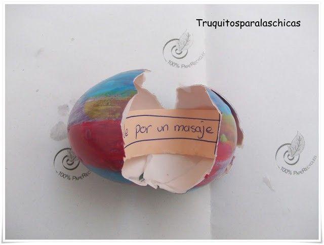 huevo con mensaje