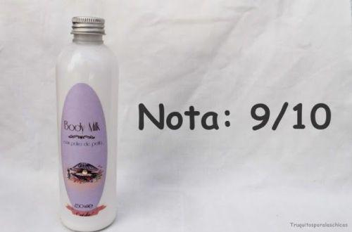 Body milk con polvo de perlas de cosmeticuse