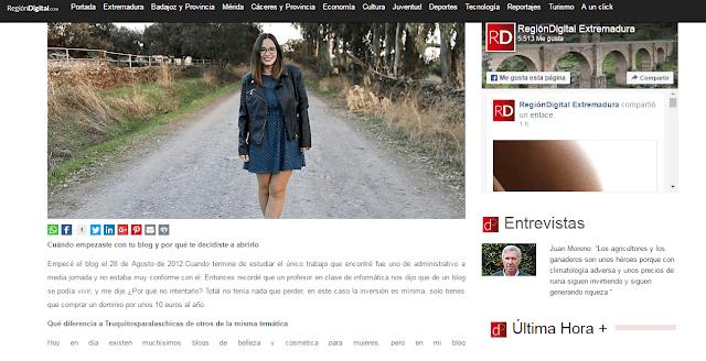 Entrevista truquitosparalaschicas en Region digital Extremadura