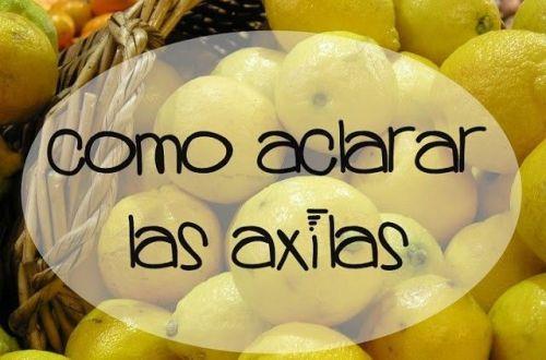 aclarar las axilas con limón y bicarbonato
