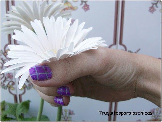 manicura-lila-con-cintas-lila-5
