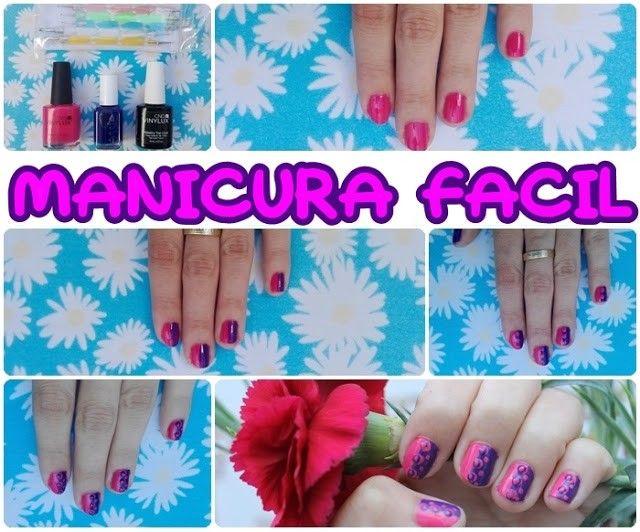 manicuras facil uñas cortas paso a paso original