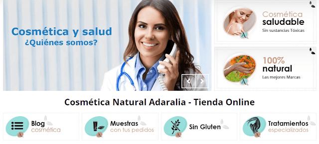 COSMETICA SALUDABLE Y NATURAL ADARALIA