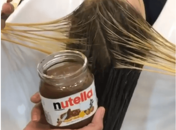 teñir el pelo con nutella