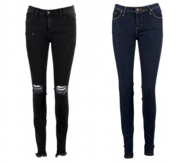 Pantalones de cintura media y con push up