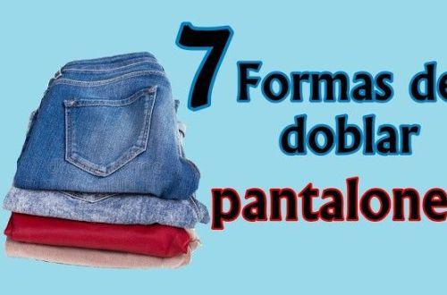 Formas de doblar pantalones