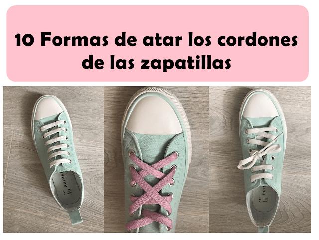 atados los cordones de las zapatillas
