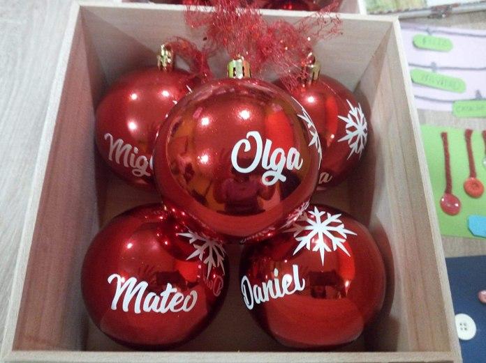 pegatinas nombres bolas navidad