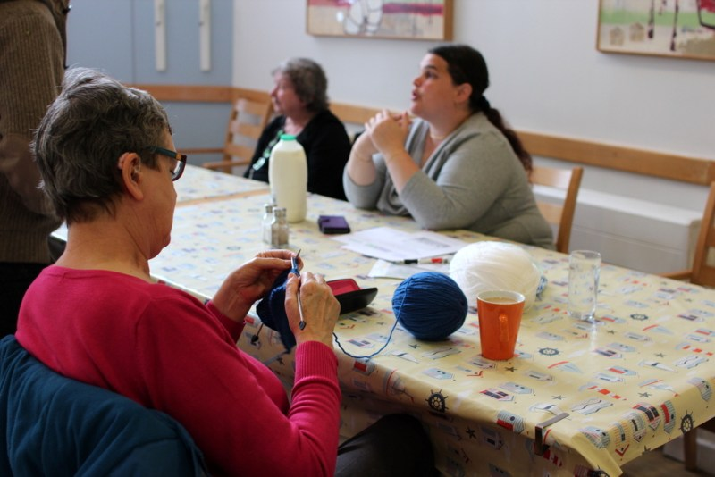 TDC Community Development Brighton New Larchwood knitting