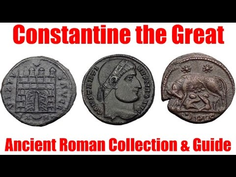Constantine the Great Family & Enemy Ancient Roman Coins Educational Article with Video