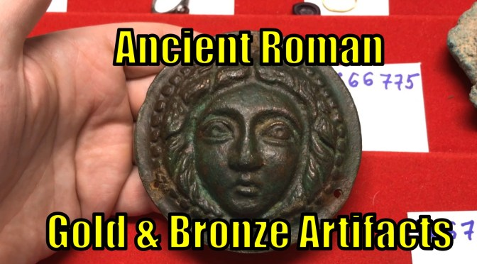 Authentic Ancient Roman Artifacts Including Gold Rings, Intaglios, Armor Decoration and Oil Lamps VIDEOS